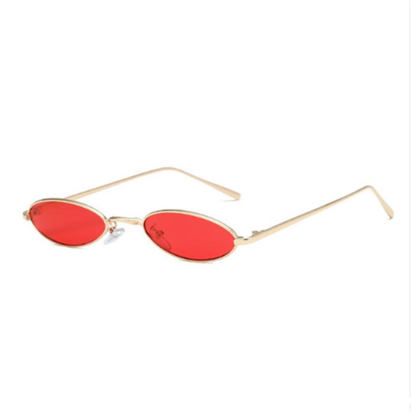 54673136f5 Compre Gafas De Sol Ovaladas De La Vendimia Lente Transparente Gafas Mujer  Hombre Mujer Marca Diseñador Marco De Metal Gafas De Sol UV400 A $64.99 Del  ...