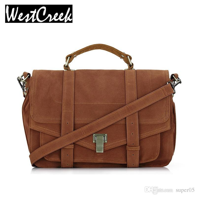 30bc31d651 Satchel Messenger Bag Vintage Suede Designer Handbags High Quality Briefcase  Postman Bag Lady Big Retro Crossbody Bags For Women Bags For Women Weekend  Bags ...