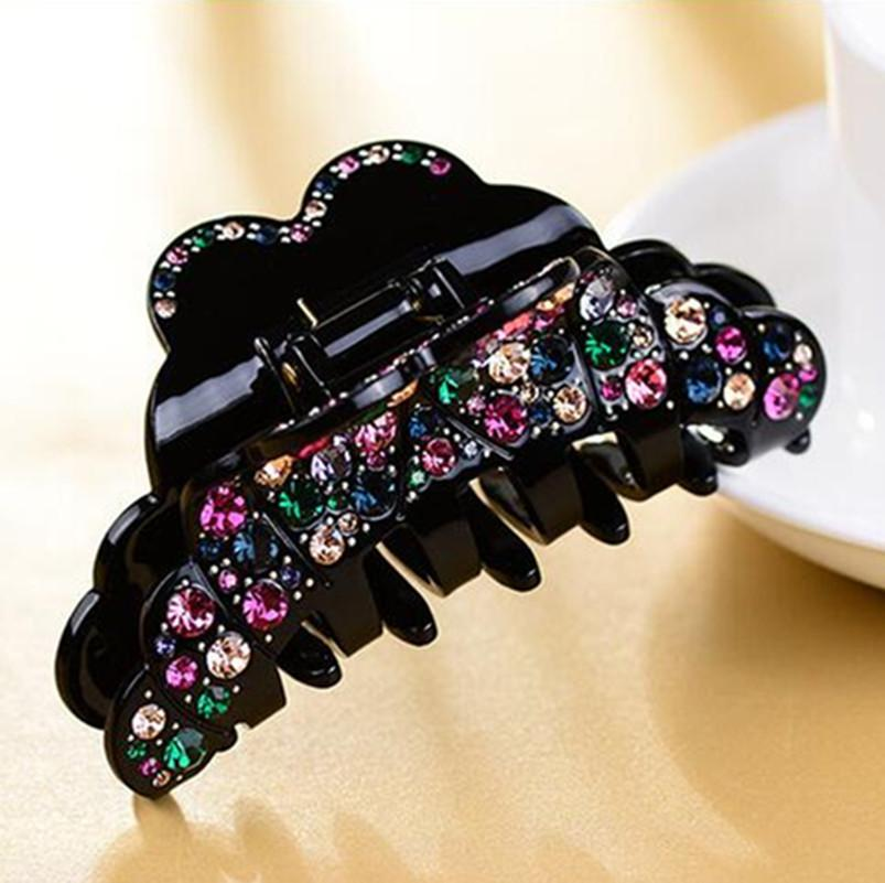 Fashion Hair Pins And Clips Rhinestone Hair Jaw Claws Barrette Crab Clamp Accessories Luxury hair clip Acrylic crab for women