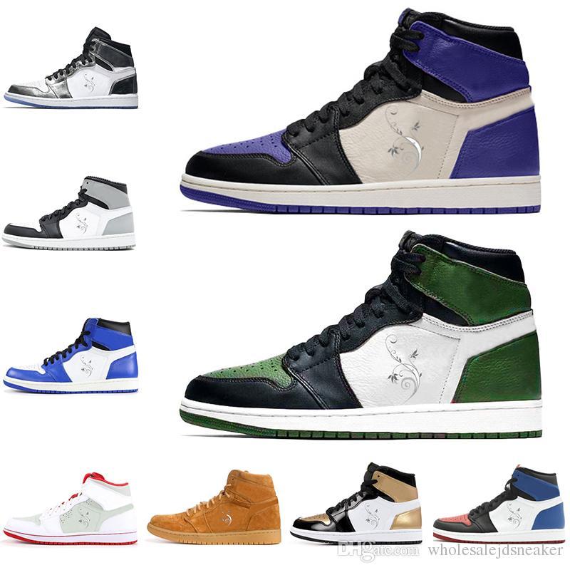 new arrival a31d3 5131d Compre Shoes Nuevo 1 1s Zapatillas De Baloncesto Pino Verde Corte Purple  Pass The Torch Top3 Liebre Tamaño 5.5 13 Zapatillas De Deporte Hombre Mujer  ...