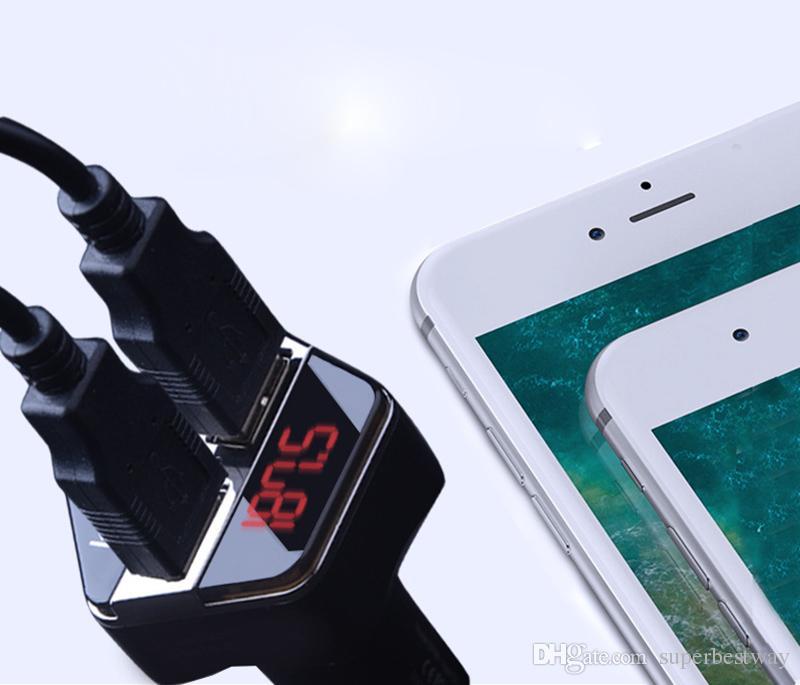 Auto Bluetooth A2DP FM Transmitter GPS Positionierung GPS-Tracker 12 V 3.1A Dual USB Car Charger MP3-Player mit APP OTH154