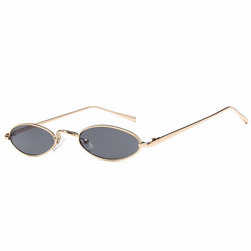 c20551565a4ab Compre Óculos De Sol Para Homens Mulheres De Luxo Mens Óculos De Sol Moda  Sunglases Retro Óculos De Sol Senhoras Óculos De Sol Pequeno Fino Designer  De ...
