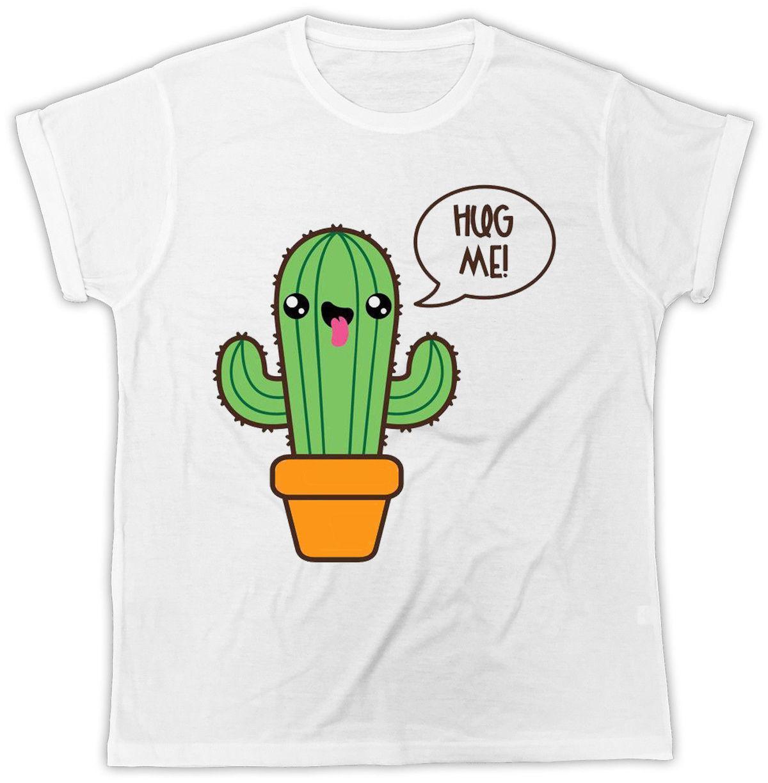 8a4466a2d Compre Camiseta De Cactus Hug Me Funny Novedad Broma Divertida Sexy CAMISETA  Impresa Regalo Ideal A  15.53 Del Liguo0036
