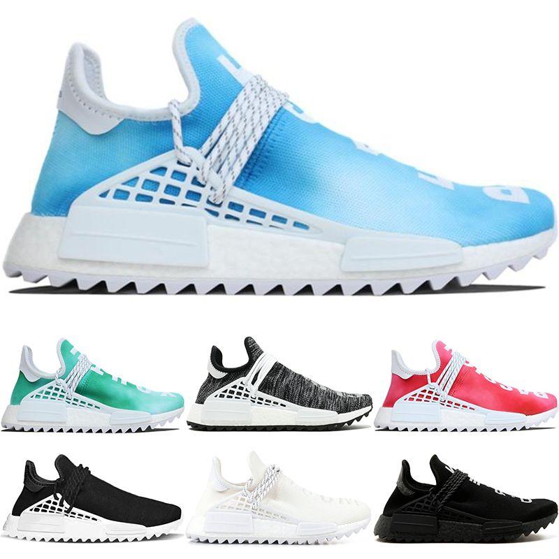 bc7cf6f47d2b1 2019 NMD Human Race Trail Running Shoes Men Women Nerd Pharrell Williams HU  Black Cream White Equality Designer Trainer Sport Sneaker Size 36 47 From  ...