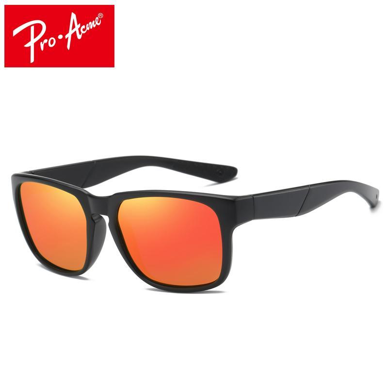 b6c37d0fdc Pro Acme Brand Men s Polarized Sunglasses Mirror Lens Square Frame ...