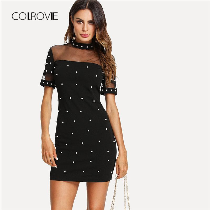 Pearl Sleeve Dress