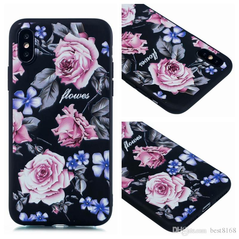 692d3a3c93b Flower Rose Soft TPU Case For Iphone XR XS MAX 10 8 7 Plus 6 6S Flamingo  Butterfly Bird Cartoon Stylish Floral Silicone Luxury Fashion Cover
