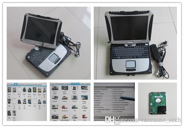 for mb star c3 c4 c5 hdd with laptop toughbook cf19 cf-19 touch screen diagnostic computer