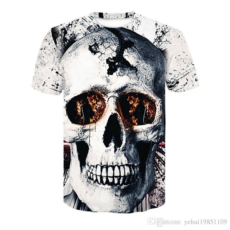 813a6833a2c4 New Big Yards Arrivals 3d T-shirt Men Women Print Melted Skull Quick Dry  Summer Harajuku Tops Tees 2018 Fashion Brand Tshirts Skull Men s T-Shirts  Online ...