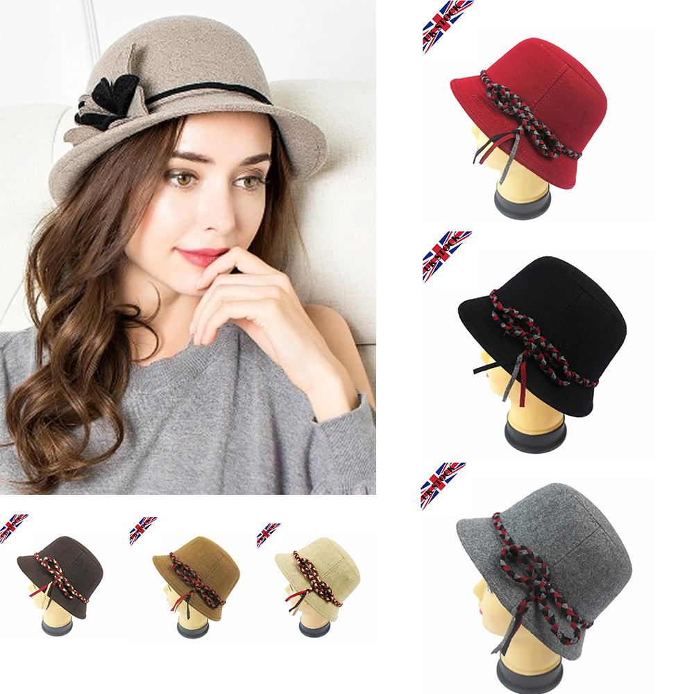 1caf0a46d52 2018 Hot Sale Autumn And Winter Floral Hats Women Woo Dome Felt Hat Retro  Hair Accessory Hat Beret Hat Ladies Beret Hat Online with  54.65 Piece on  ...