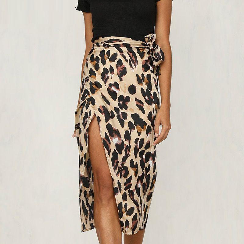 6e66c789c98c91 2019 Leopard Print Skirt Women Bow Bottom Skirt Mid Calf Ladies Skirts  Womens Casual Clothing Summer Midi From Pulchritude, $21.85 | DHgate.Com