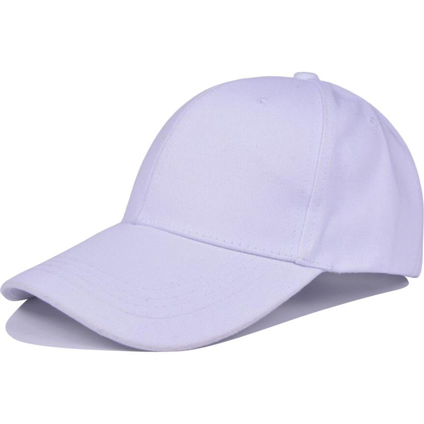 Cotton Baseball Cap Men And Women Solid Color Cap Korean Version of ... 7810bbc1f497