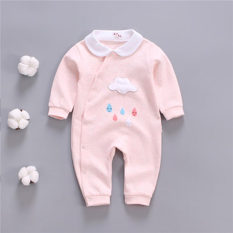 492e797793 Spring Newborn Baby Clothes Girl Jumpsuits Cartoon Rompers Toddler ...