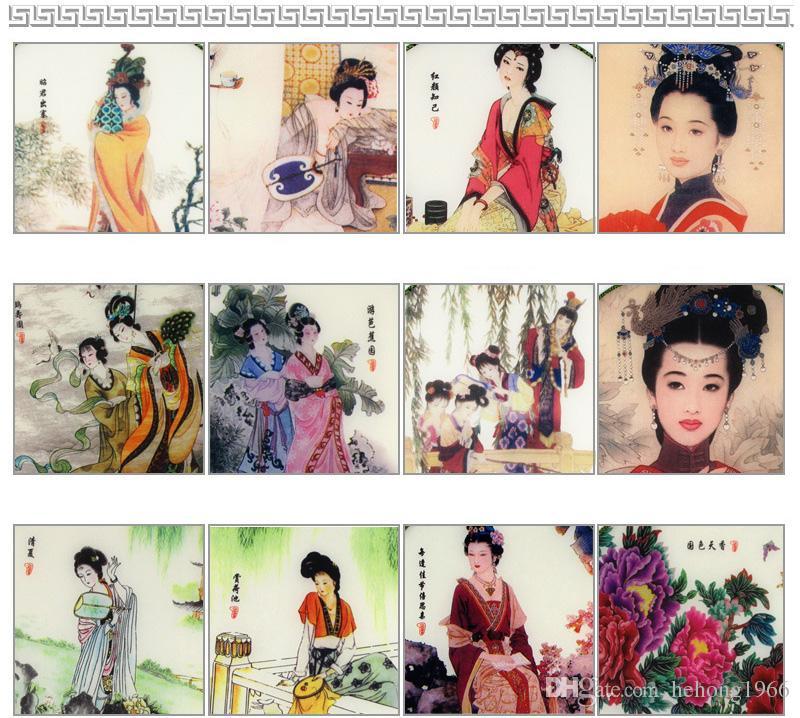 Étape Effectuer Props vintage élégante danse Fan traditionnelle ronde soie chinoise Fan main Accueil Chambre Décoration Cadeaux 2 4xx Z