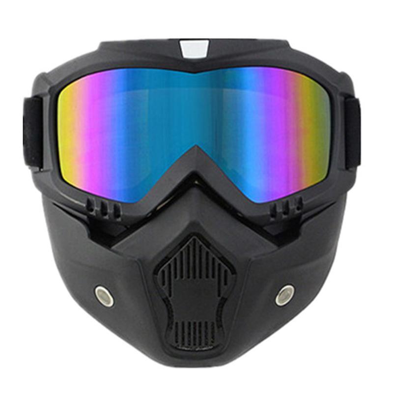 Compre Óculos De Proteção Da Motocicleta Óculos De Proteção À Prova De  Vento Poeira Máscara Facial Filtro Óculos De Sol De Moto De Skate Skate  Moto ... ed3d54fbec