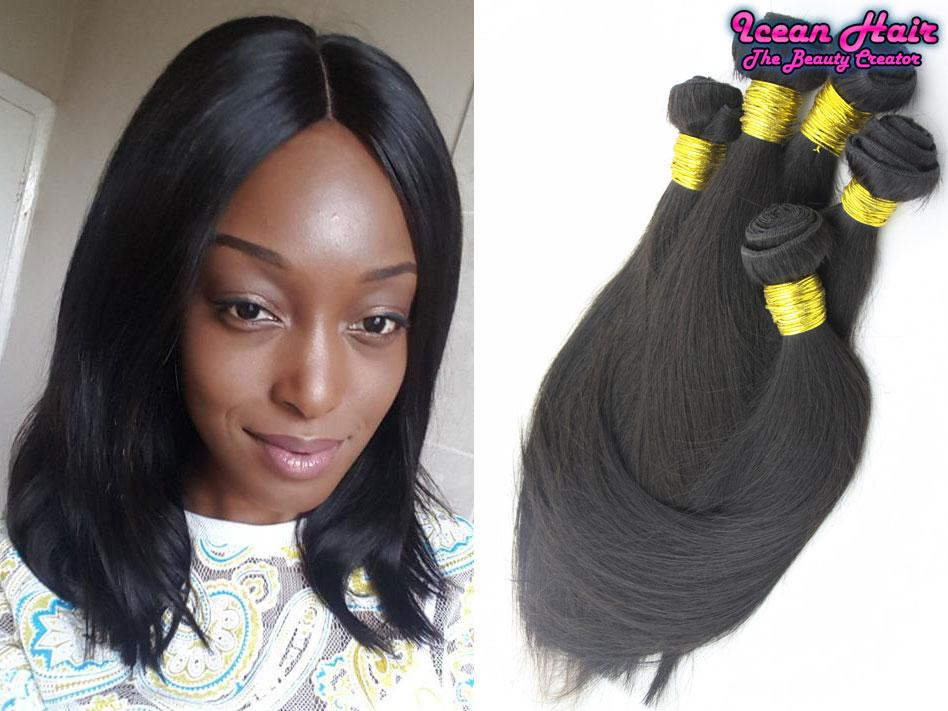 New Arrival Peruvian Virgin Human Hair Weaves Silky Straight With 1