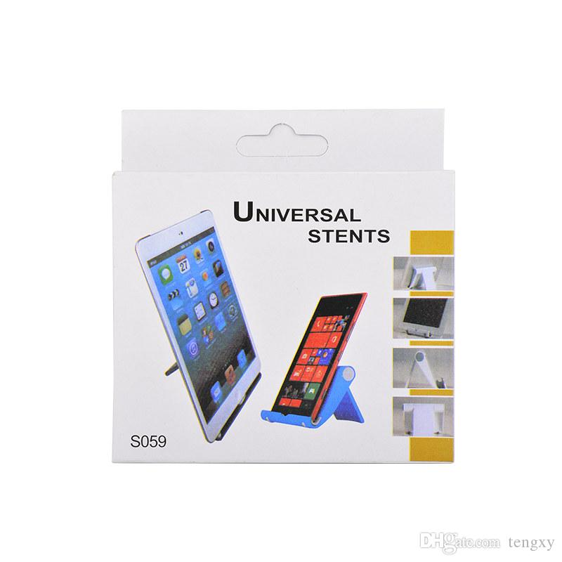 hot sale Desk Folding Tablet Mobile Phone Stand Bracket Holder Foldable Adjustable Angle for iPhone Samsung Phone Tablet Less 11 Inch