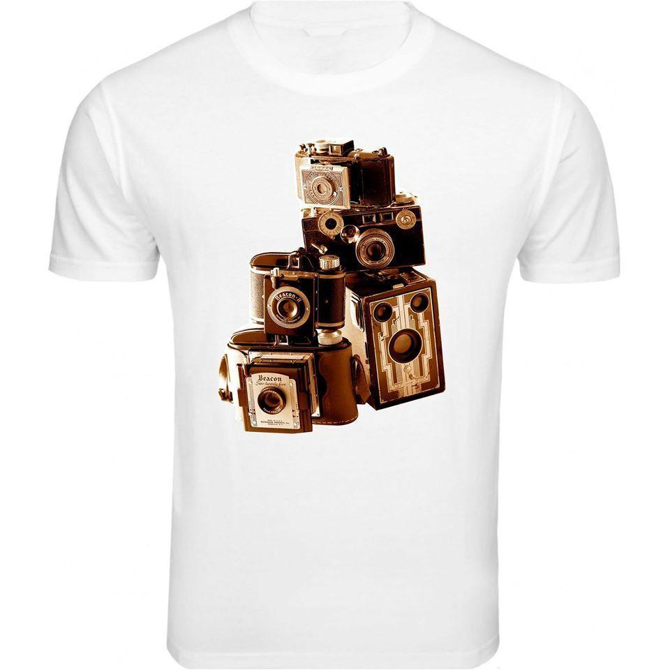 Vintage Camera Collection Picture Men T shirt Birthday Retro Gift Trend Cool 3XL Newest 2018 Fashion Brand Style Short Sleeve