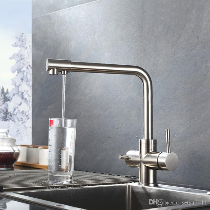 2019 Waterfilter Taps Kitchen Faucets Sainless Steel Mixer Drinking