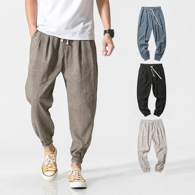 cbceff2f90e 2019 2018 Summer India Style Elastic Waist Loose Pants Men Linen Breathable  And Comfortable Cotton Trousers Men Casual Pants From Bairi