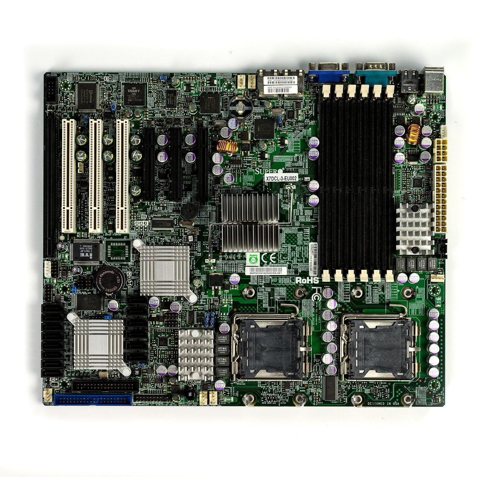 Материнская плата рабочего места набора микросхем X7DCL-3 5100 поддерживает качество испытания серии 771 100% Xeon 54-pin хорошее