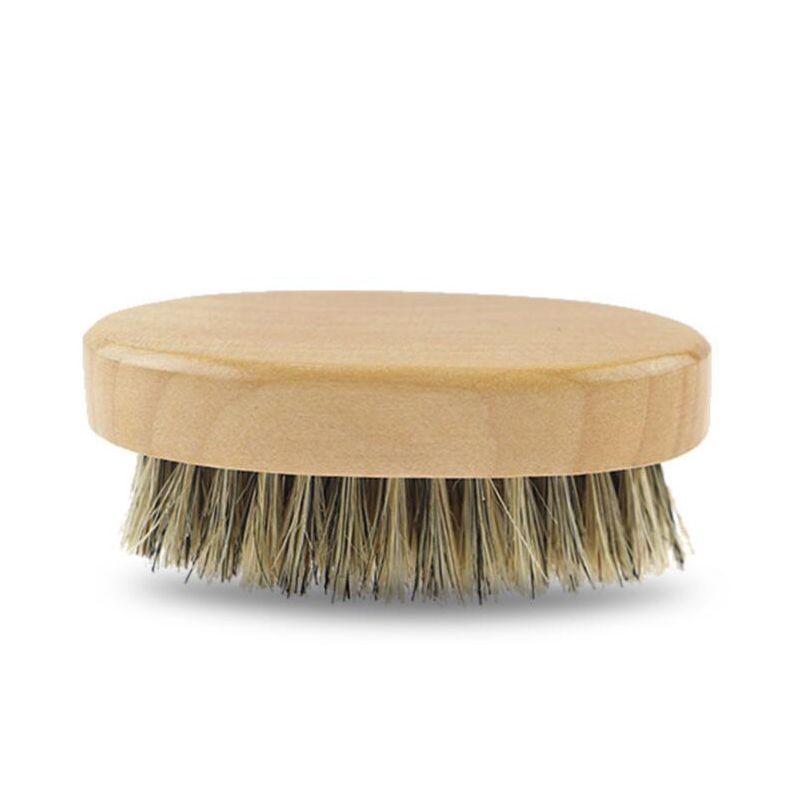 2019 Hot Boar Hair Bristle Beard Mustache Brush Military Hard Round