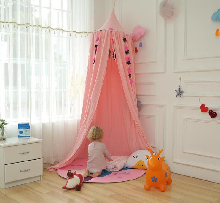 Niños Canopy Tent Playhouse Kids Crib Netting Play Car Tienda Colgando Teepees Tipi Mosquito Net Para Niñas Niños Decoración