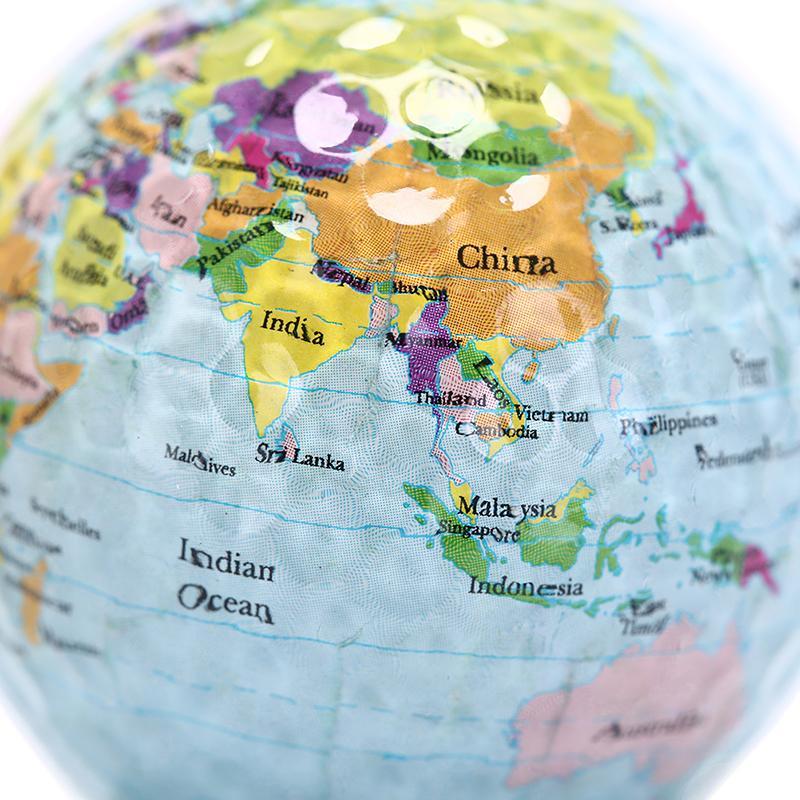 Globus Karte.1 Stück Kunststoff Golfball Globus Karte Farbe Golfbälle Praxis Bälle Geschenk