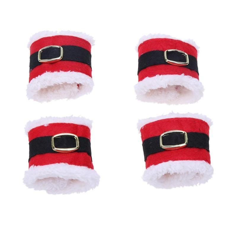 Tovaglioli A Forma Di Stella Di Natale.Anelli Di Tovagliolo Di Natale A Forma Di Fibbia Con Fibbia Di Babbo Natale Per Le Decorazioni Da Tavola Per La Casa