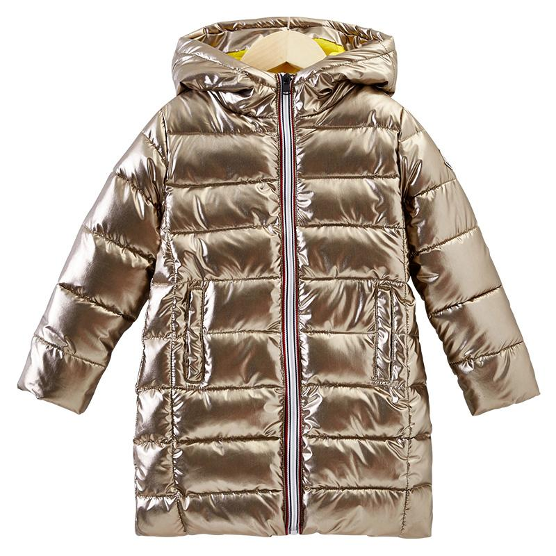ed50ec344 Children Winter Long Jacket For Kids Girl Silver Gold Boys Casual ...