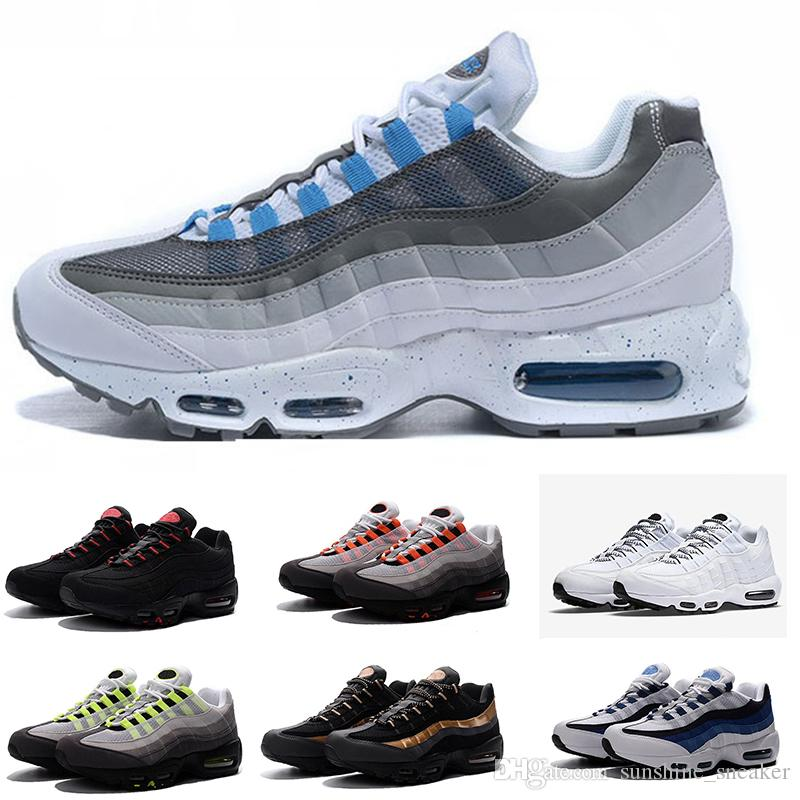 Acquista Nike Air Max 95 2018 Nuovo Caldo Classico 95 TT Economici Uomo  Donna Scarpe Autentiche Scarpe Casual Uomo Top All aperto A Piedi Scarpe Da  Tennis ... a03ebb95330