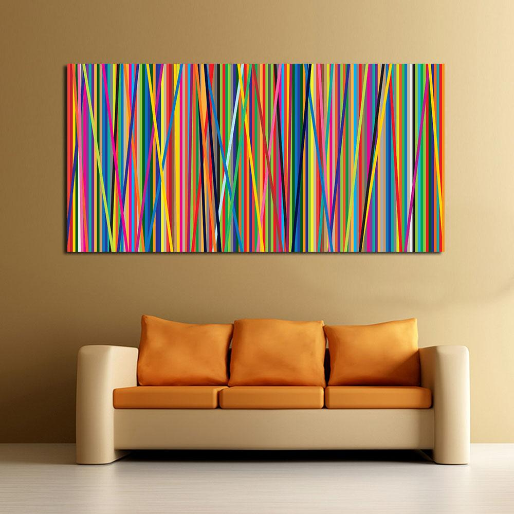2019 abstract line oil painting wall art canvas decorative