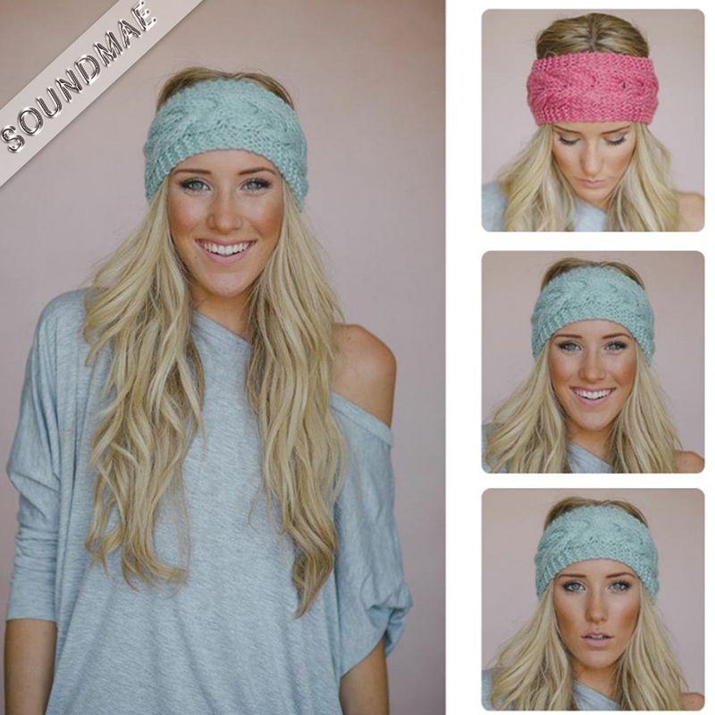 2019 Woolen Crochet Hook Head Wrap Headbands For Girls Lady Mother