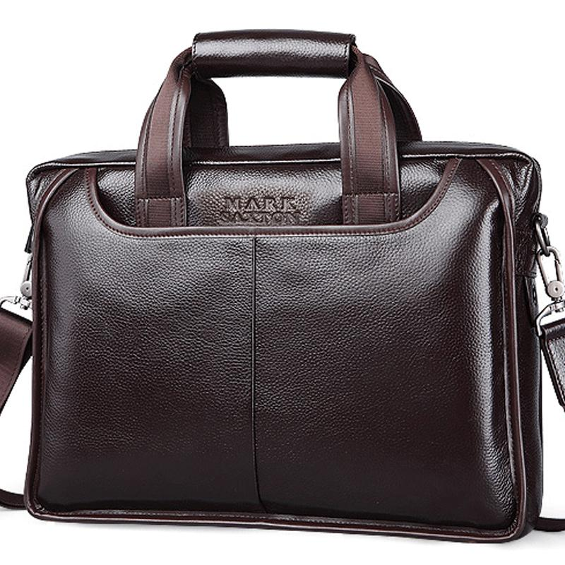 ce0ca7eea0 2018 New Fashion Cowhide Male Commercial Briefcase  Real Leather Vintage  Men S Messenger Bag Casual Natural Cowskin Business Bag Mens Work Bags  Briefcases ...