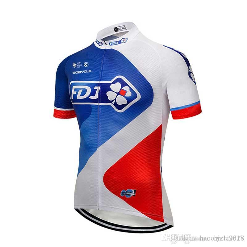 2017 NEW Fdj Cycling Clothing Short Sleeves Cycling Jerseys Mountain ... adc4c6e49