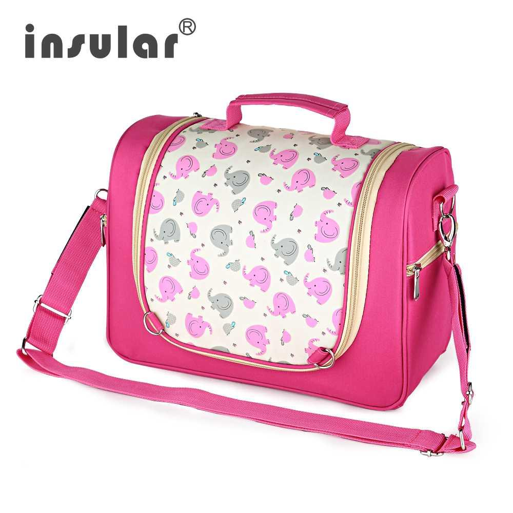 b063516168d81 2019 Insular Mummy Maternity Nappy Bag Messenger Mommy Bag Stroller Diaper  Travel Nursing Nappy Changing Bags For Baby Care From Laurul