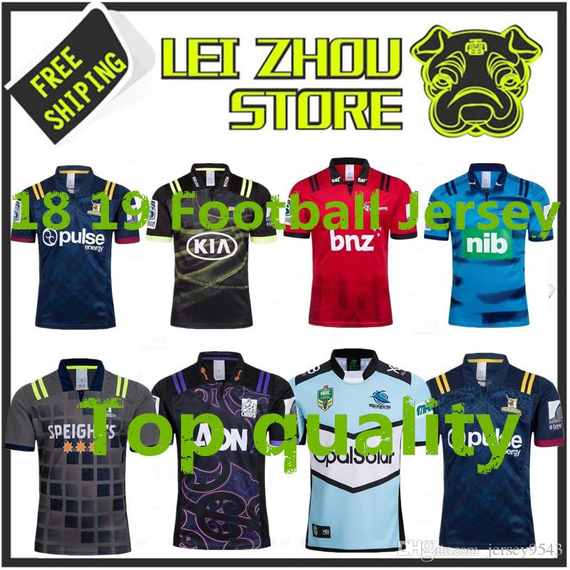e229bd261d8 2019 Top Quality 2018 2019 Chiefs Super Rugby Jersey New Zealand Super  Chiefs Blues Hurricanes Crusaders Highlanders Football Shirts SIZE: S 3XL  From ...