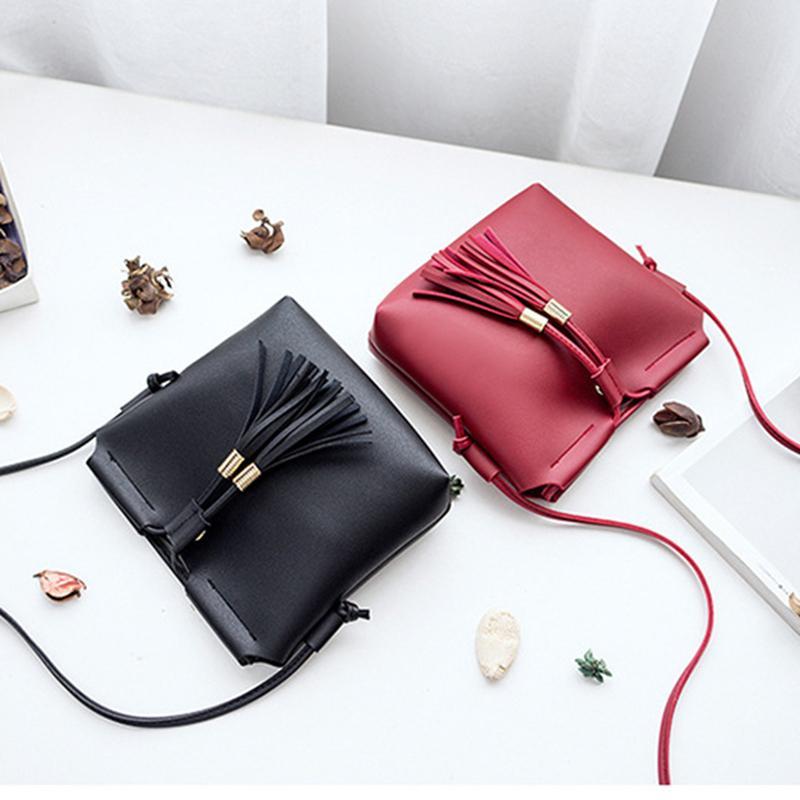 d89fae80fd DONLEE QUEEN Shell Women Messenger Bags High Quality Cross Body Bag PU  Leather Mini Female Shoulder Bag Tassel Handbags Designer Purses Satchel  Bags From ...