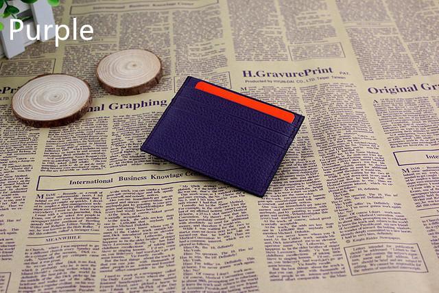 Porta carte di credito in vera pelle ultra-sottile Porta carte di credito da uomo con porta carte di credito, porta carte di credito