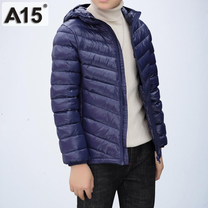 30218ffcc728 A15 Winter Jacket Boy Duck Down 2018 Design High Quality Teenager ...