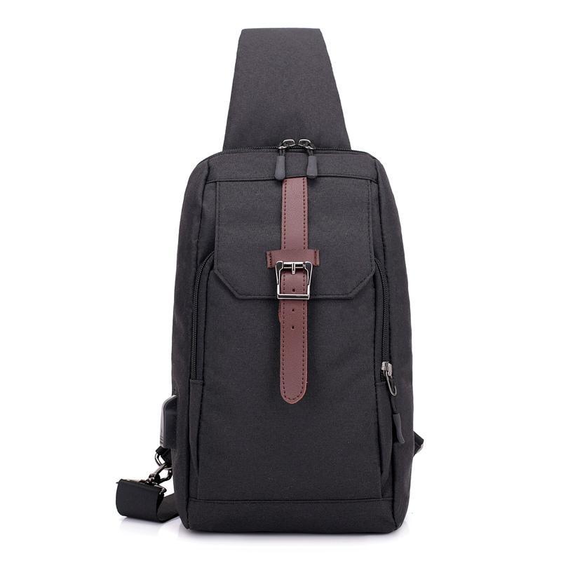 53e19c493 Male Waterproof Mini Crossbody Bag Small Usb Charge Travel Sling ...
