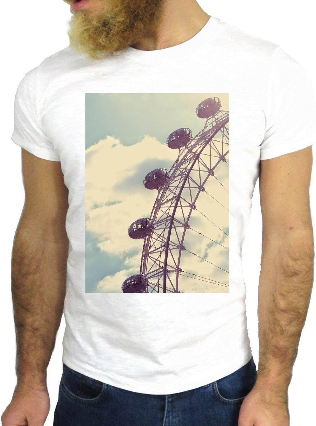 4e9e2a6f530c25 T SHIRT JODE Z1908 FERRIS WHEEL LONDON VINTAGE SKYLINE FUN COOL FASHION  NICE GGG Shirts Design Online T Shirts From Lovemeprintes