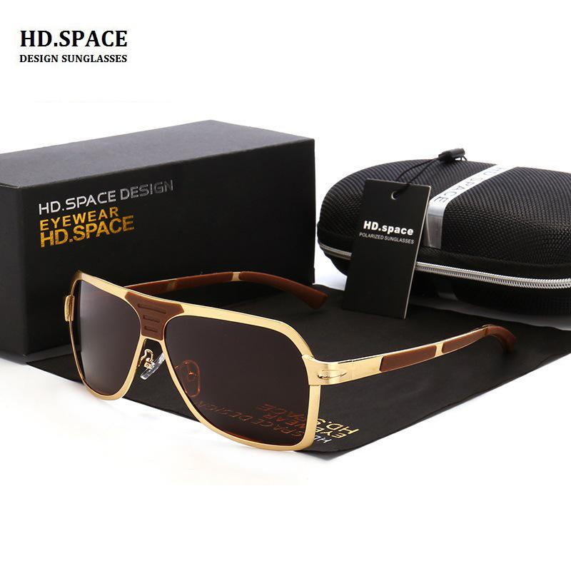 2bb7d6a13b HD.space 2017 Men s Polarized Sunglasses Classic Retro Large Frame ...