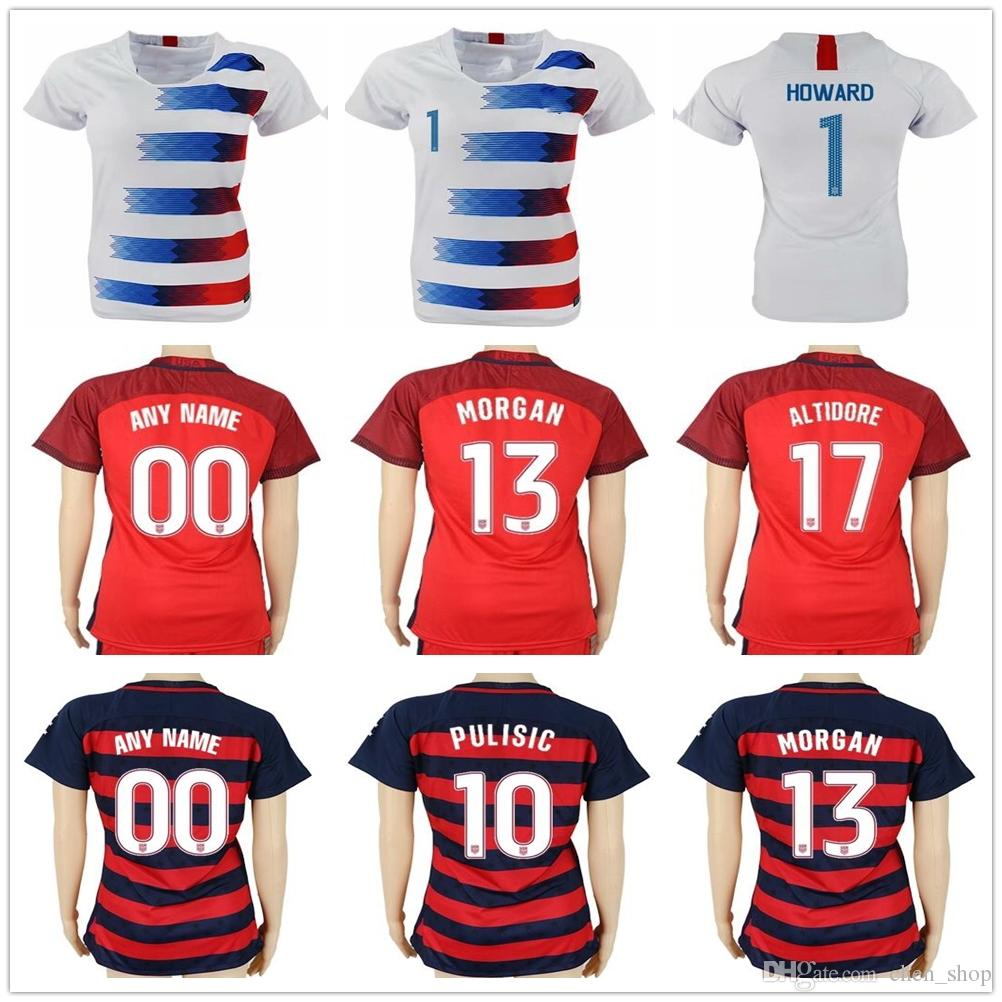 2017 2018 Women Soccer Jersey 10 LLOYD 13 MORGAN 7 BEASLEY 8 ERTZ 1 ... afbff3154b