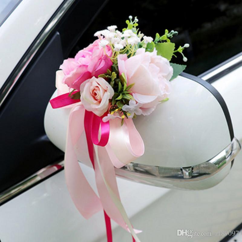 Grosshandel Schonheit Hochzeit Auto Dekoration Hochzeit Auto Blume