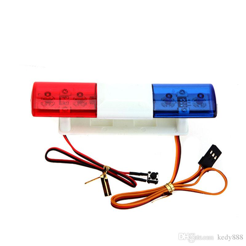 Accesorios del coche RC Led Police Flash Light Luz alarmante para 1/10 HSP Kyosho Traxxas Tamiya Axial SCX10 RC4WD D90 RC piezas del coche