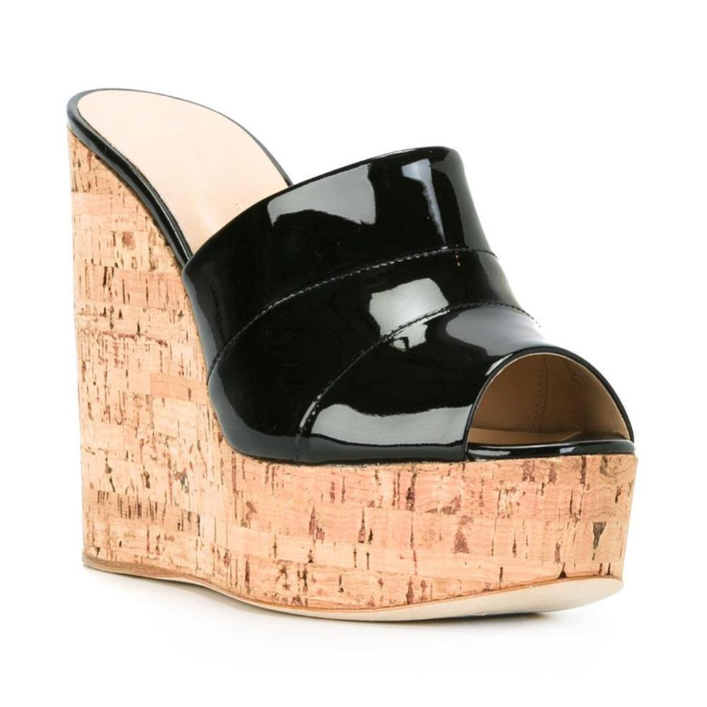 Compre 2018 Mujeres Corcho Cuña Cielo Alta Plataforma Diapositiva Sandalias  Mulas De Tacón Alto Negro Plata Zapatos De Verano Venta Al Por Mayor A   92.71 ... ec9c2fdaf4a0