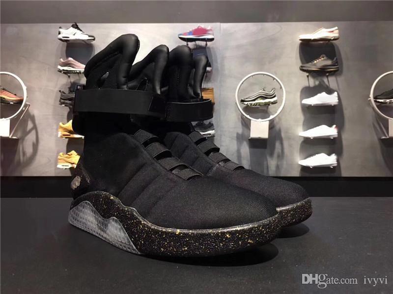Air Mag Marty McFlys Sneakers Glow In The Dark Scarpe casual da uomo Scarpe Mag Glow In The Dark Sneaker Grigio Nero Stivali da uomo 1
