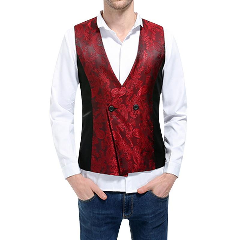 13516236e3b1 Puimentiua Men's Vest 2018 New Dark Pattern Design Patchwork Waistcoat Male Slim  Fit Suit Vest Vests Cheap Vests Puimentiua Men's Vest 2018 New Dark Online  ...