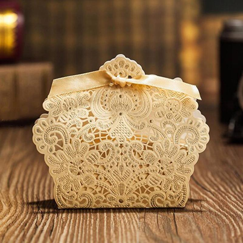Laser Cut Wedding Favor Boxes Candy Box Favor Wedding Candy Tin